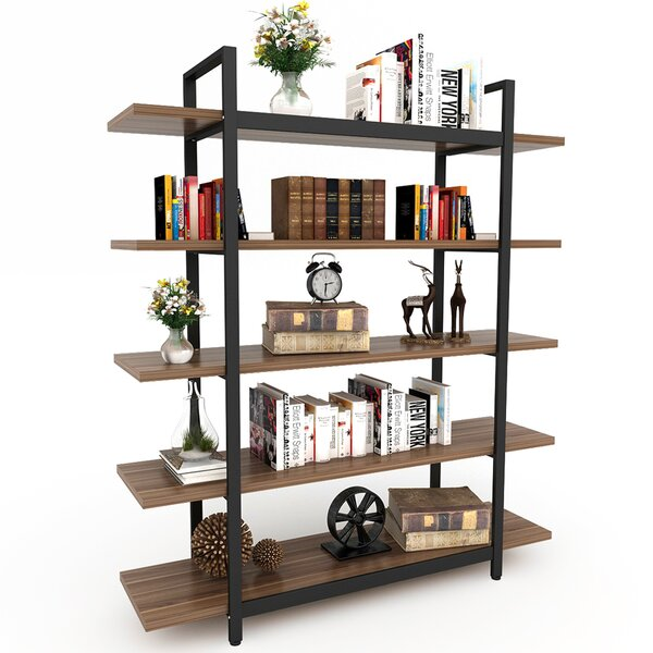 Melia Vintage Industrial Style 5-Tier Etagere Bookcase by Williston Forge