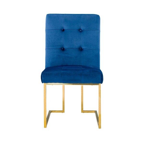 Stoudt Tufted Velvet Upholstered Side Chair (Set Of 2) By Everly Quinn