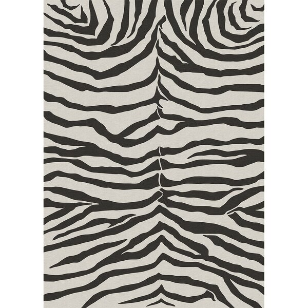 Zebra Safari Black Indoor/Outdoor Area Rug by Ruggable