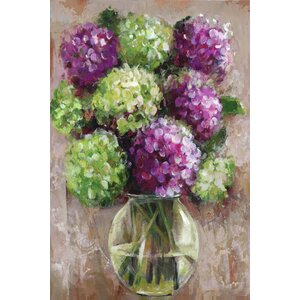 Hydrangea Study by Sandy Doonan Painting Print on Wrapped Canvas by Portfolio Canvas Decor