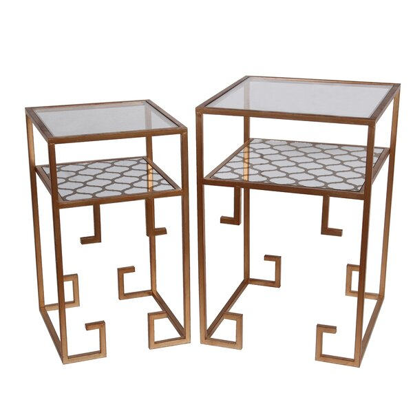 Gryselda 2 Piece End Table Set by Willa Arlo Interiors