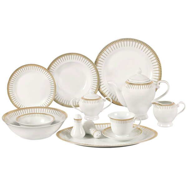 Deakin Porcelain 57 Piece Dinnerware Set, Service for 8 by Astoria Grand