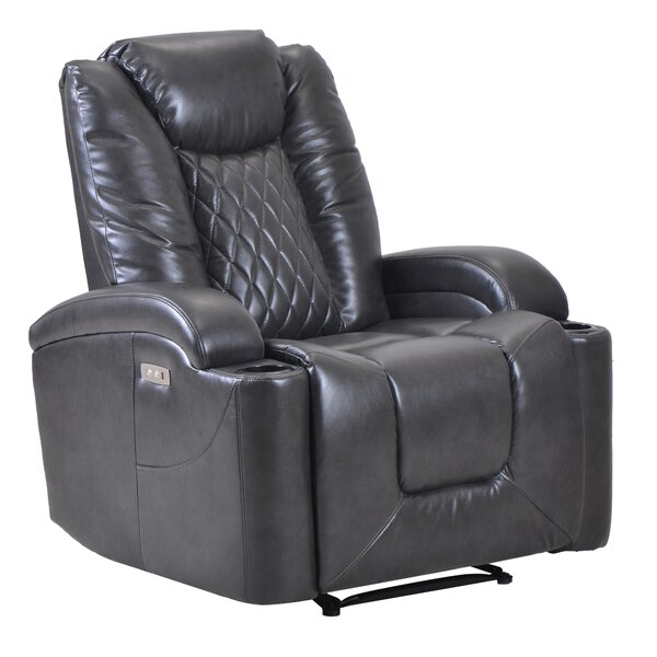 Asleigh Faux Leather Power Lift Assist Recliner W003408573