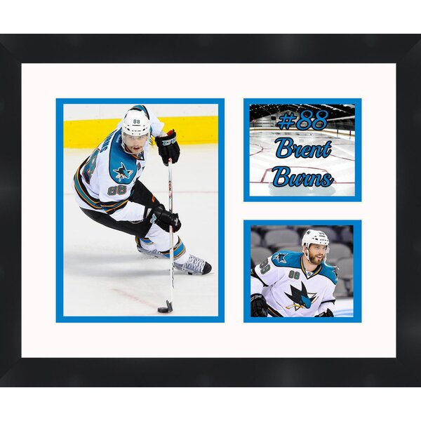 San Jose Sharks Brent Burns 88 Collage Framed Photographic by Frames By Mail