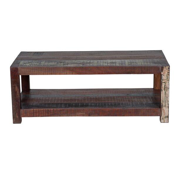 Edmonson Solid Wood Coffee Table With Storage By Loon Peak