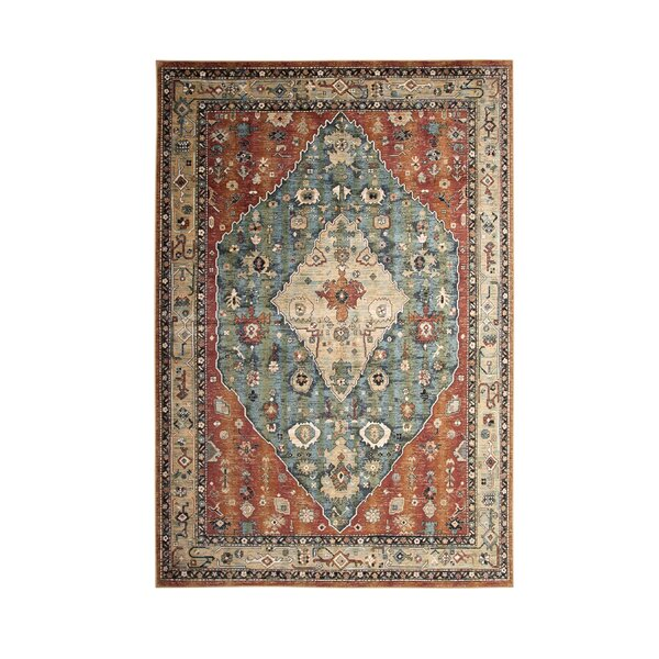 Beecroft Machine Woven Orange Area Rug by Darby Home Co