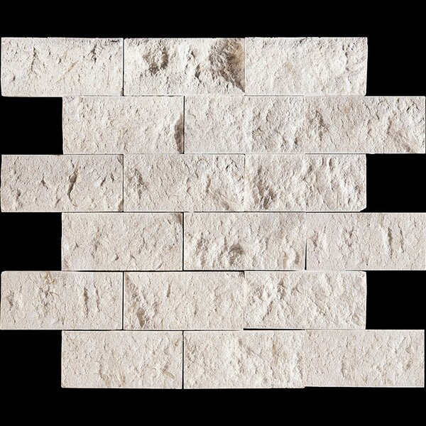 Split Face 4 x 2 Stone Mosaic Tile in Fossil Stone by Parvatile