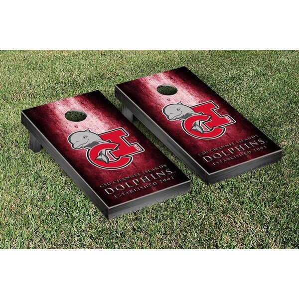 California State Channel Islands Dolphins Metal Version Cornhole Game Set by Victory Tailgate