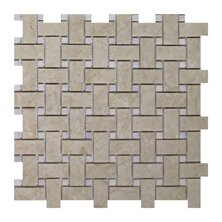 Olympos Basketweave 1 x 2 Marble Mosaic Tile in Beige by Seven Seas