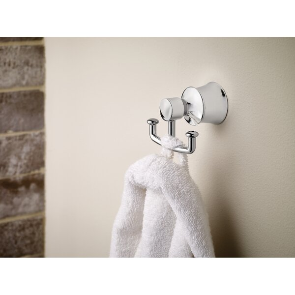 Dartmoor Double Wall Mounted Robe Hook by Moen