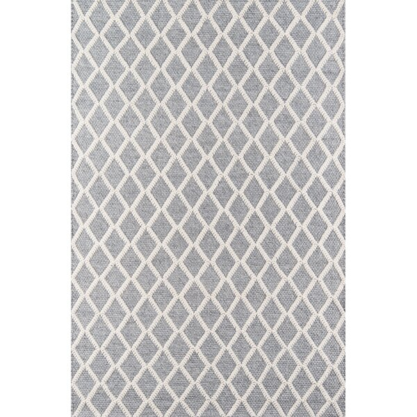 Elissa Hand-Woven Gray Area Rug by Gracie Oaks