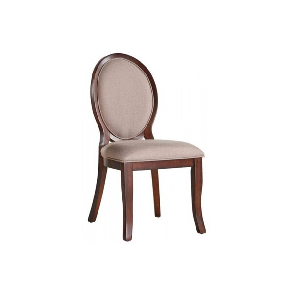 Karina Wood and Fabric Oval Upholstered Dining Chair (Set of 2) by Darby Home Co