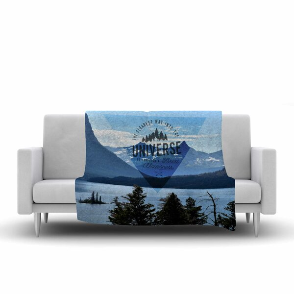Robin Dickinson Through the Wilderness Photography Fleece Throw by East Urban Home