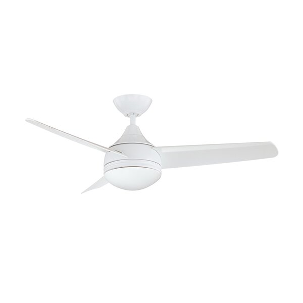 42 Rocket 3 Blade Ceiling Fan with Wall Remote by Mercury Row