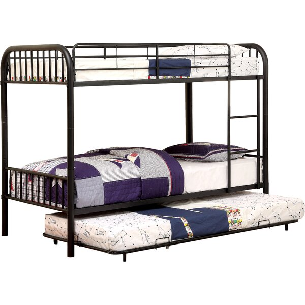 Sonya Twin over Twin Bunk Bed with Trundle by Harriet Bee