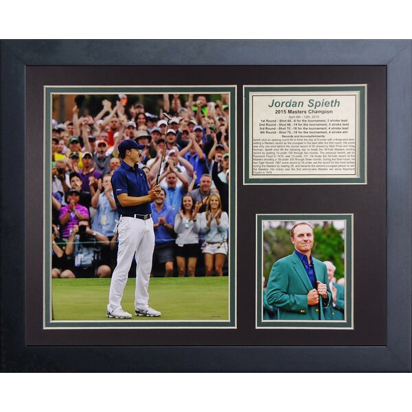 Jordan Spieth 2015 Masters Champion Framed Memorabilia by Legends Never Die