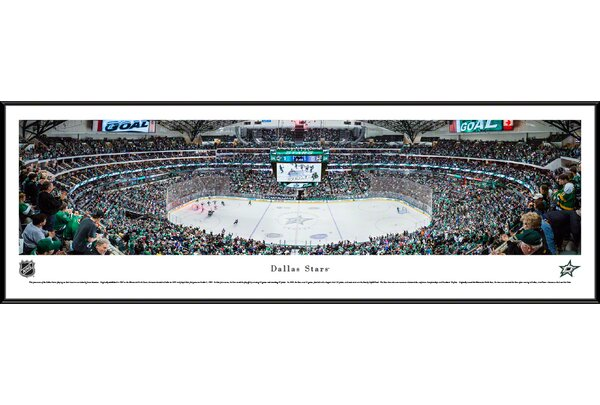 NHL Dallas Stars by James Simmons Framed Photographic Print by Blakeway Worldwide Panoramas, Inc