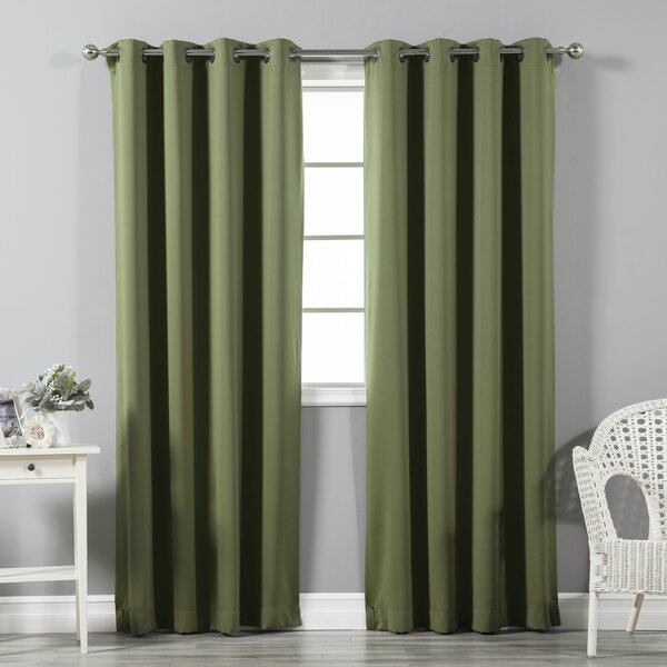 Solid Blackout Thermal Grommet Curtain Panels (Set of 2) by Best Home Fashion, Inc.
