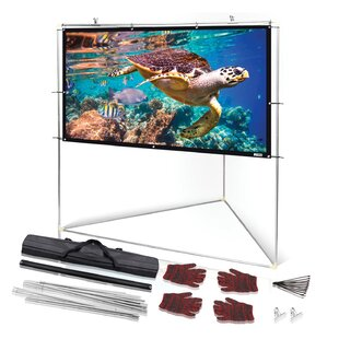 Outdoor White Portable Projection Screen Pyle