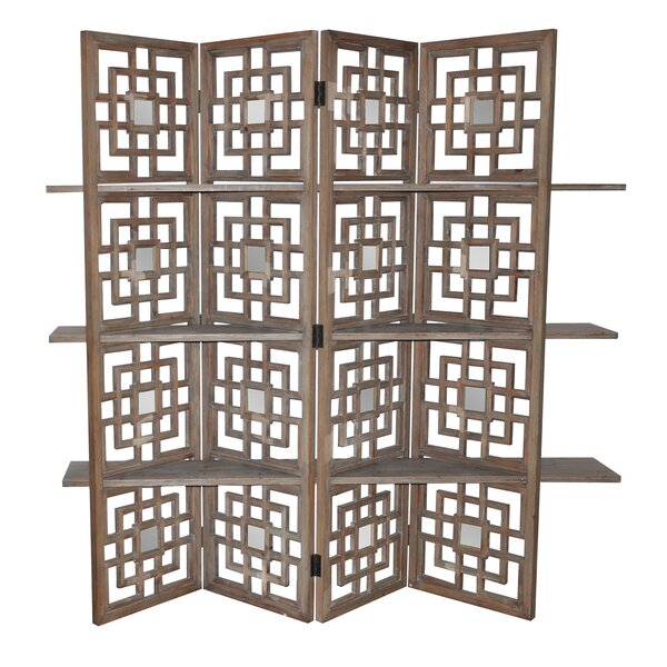 Luanne 4 Panel Room Divider by Bloomsbury Market