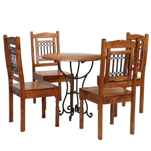 Warrensville 5 Piece Solid Wood Dining Set by East Urban Home East Urban Home