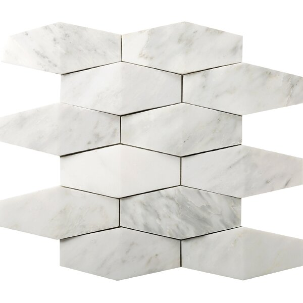 Winter Prism Marble Mosaic Tile in Frost by Emser Tile