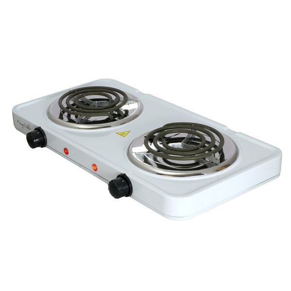 Buffet 17 Electric Cooktop with 2 Burners by Mega Chef