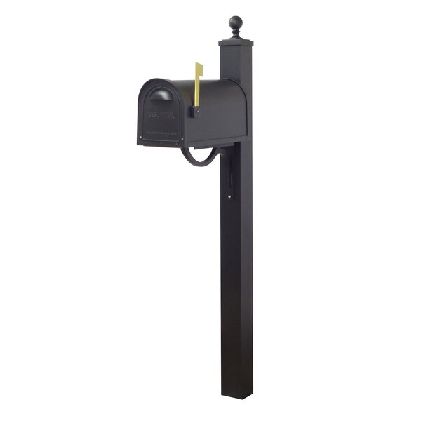 Classic Curbside Locking Mailbox with Springfield Post Included by Special Lite Products