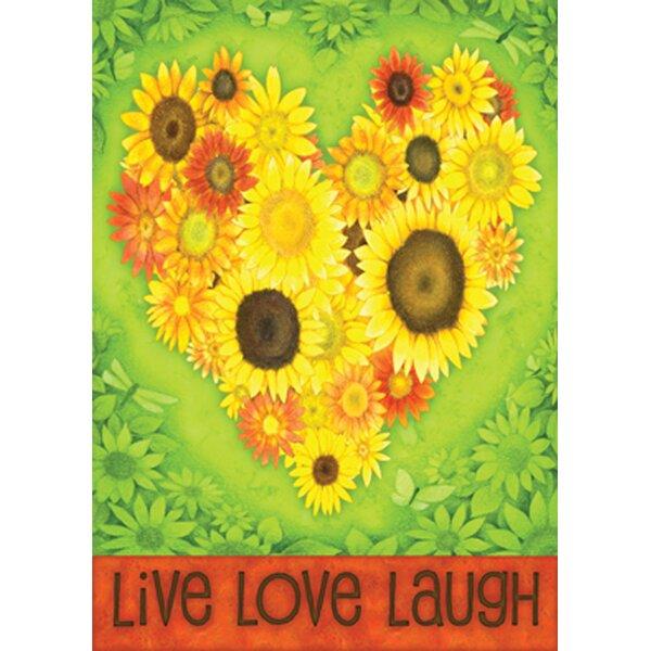 Sunflower Heart Garden flag by Toland Home Garden