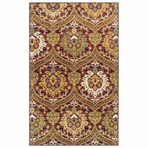 Charmine Red/Green Area Rug