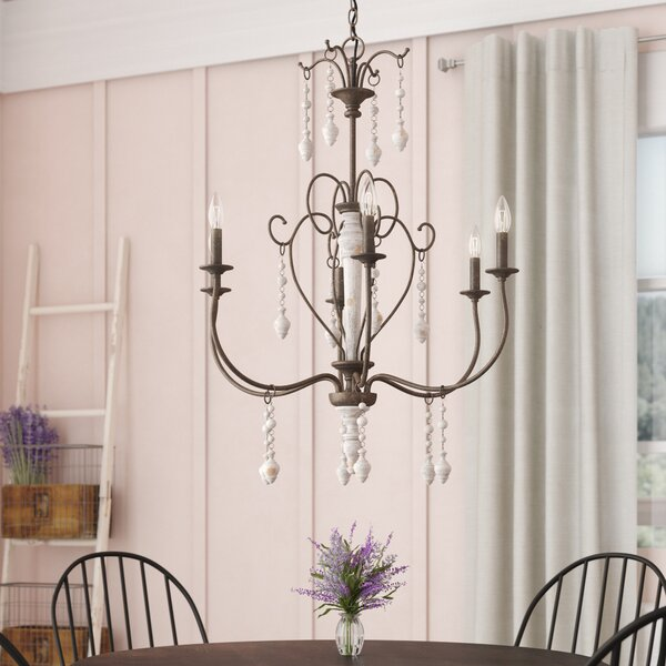 Bouchette Traditional 6-Light Chandelier by Lark M