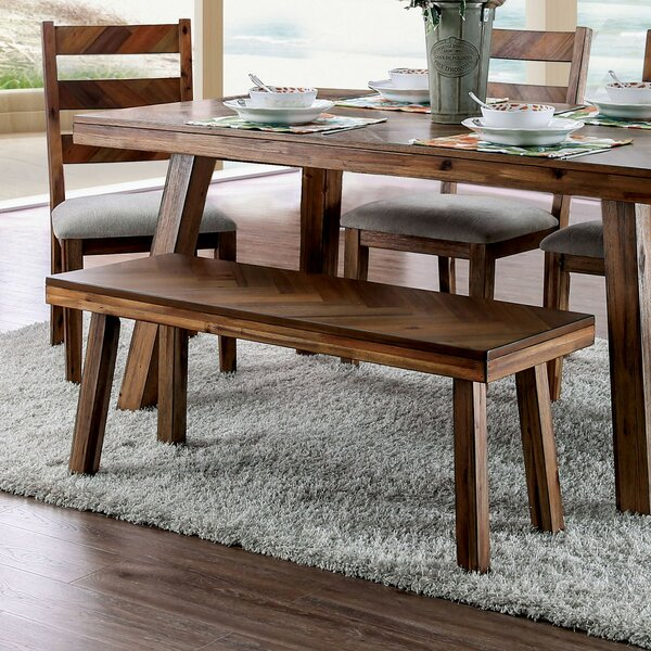 Burnside Wood Bench by Union Rustic