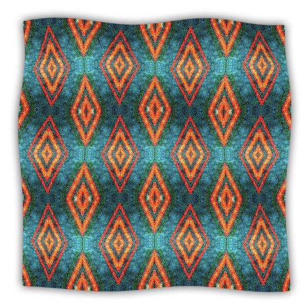 Diamond Sea by Anne Labrie Fleece Throw Blanket by East Urban Home