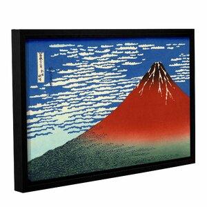 Red Fuji by Katsushika Hokusai Framed Painting Print by ArtWall