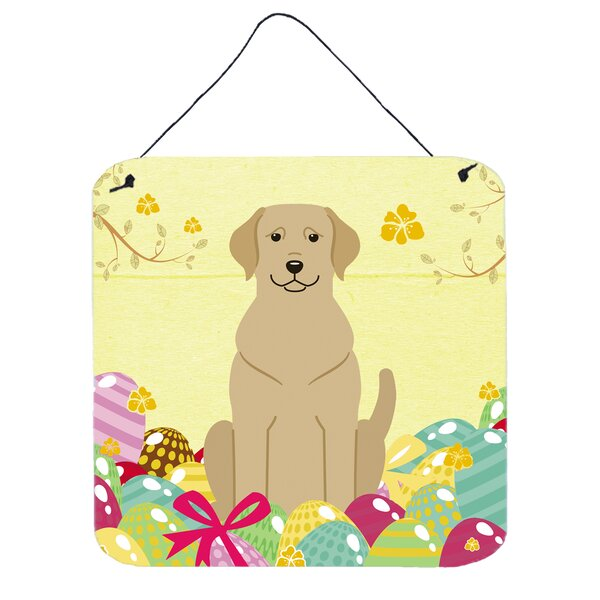 Easter Eggs Labrador Wall Décor by The Holiday Aisle