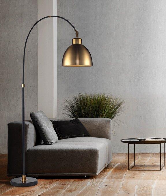 Savannah 82 5 arched floor lamp