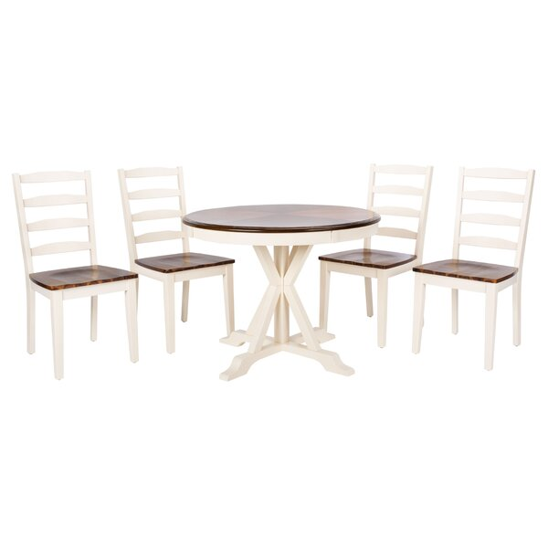 Kaster 5 Piece Solid Wood Dining Set by August Grove