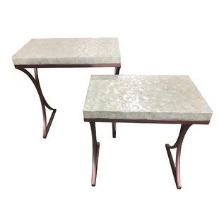 Kyra 2 Piece Metal Base End Table