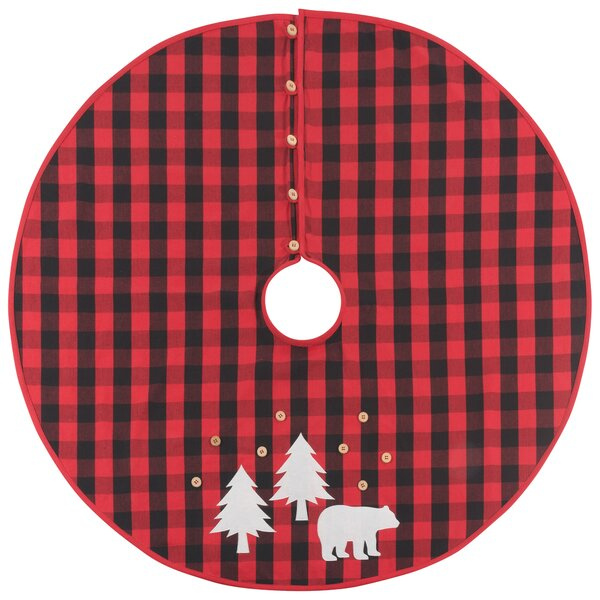 Buffalo Check Tree Skirt by Loon Peak