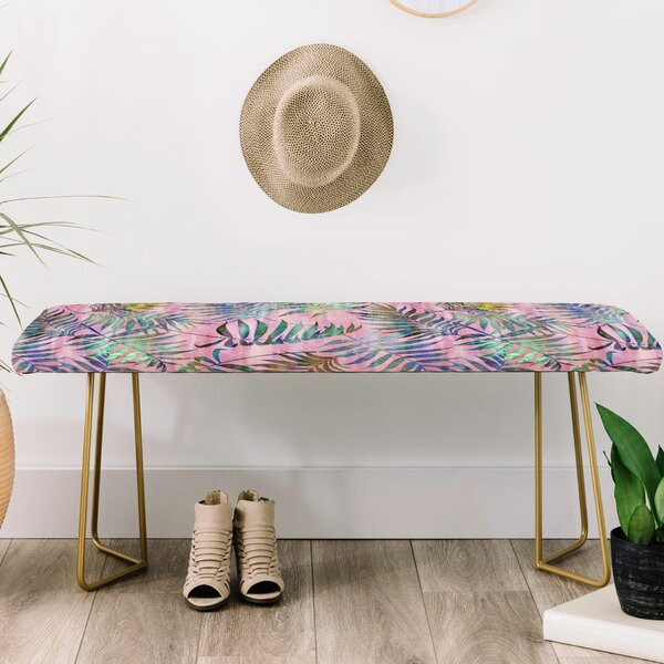 Schatzi Brown Reeya Tropical Upholstered Bench by East Urban Home