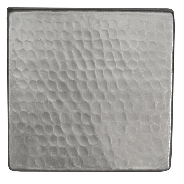 4 x 4 Hammered Copper Tile in Nickel by Premier Copper Products