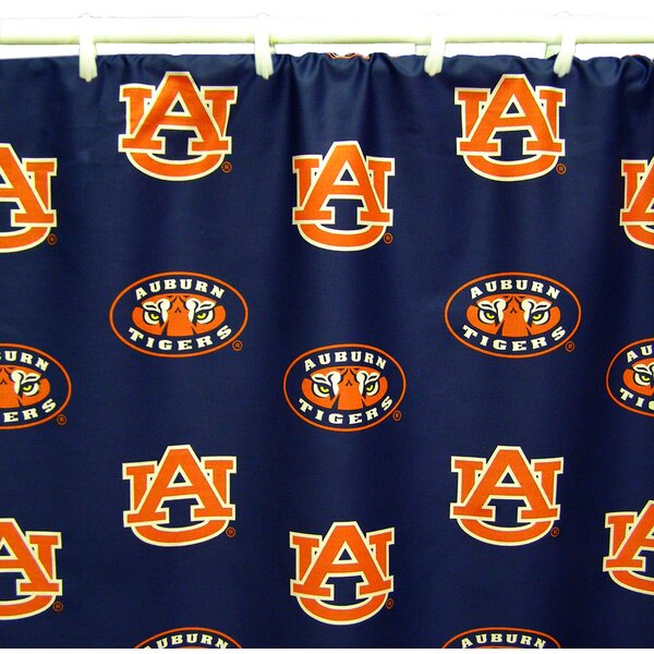 NCAA Auburn Cotton Printed Shower Curtain by College Covers