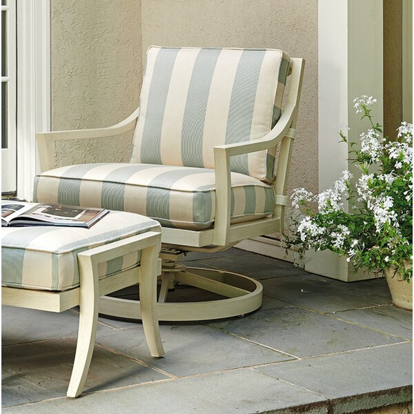 Misty Garden Swivel Rocker Chair with Cushion by Tommy Bahama Outdoor Tommy Bahama Outdoor