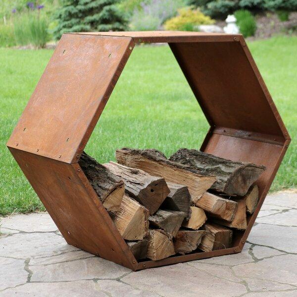 Tiverton Heavy Duty Hexagon Rustic Honeycomb Log Rack by Williston Forge