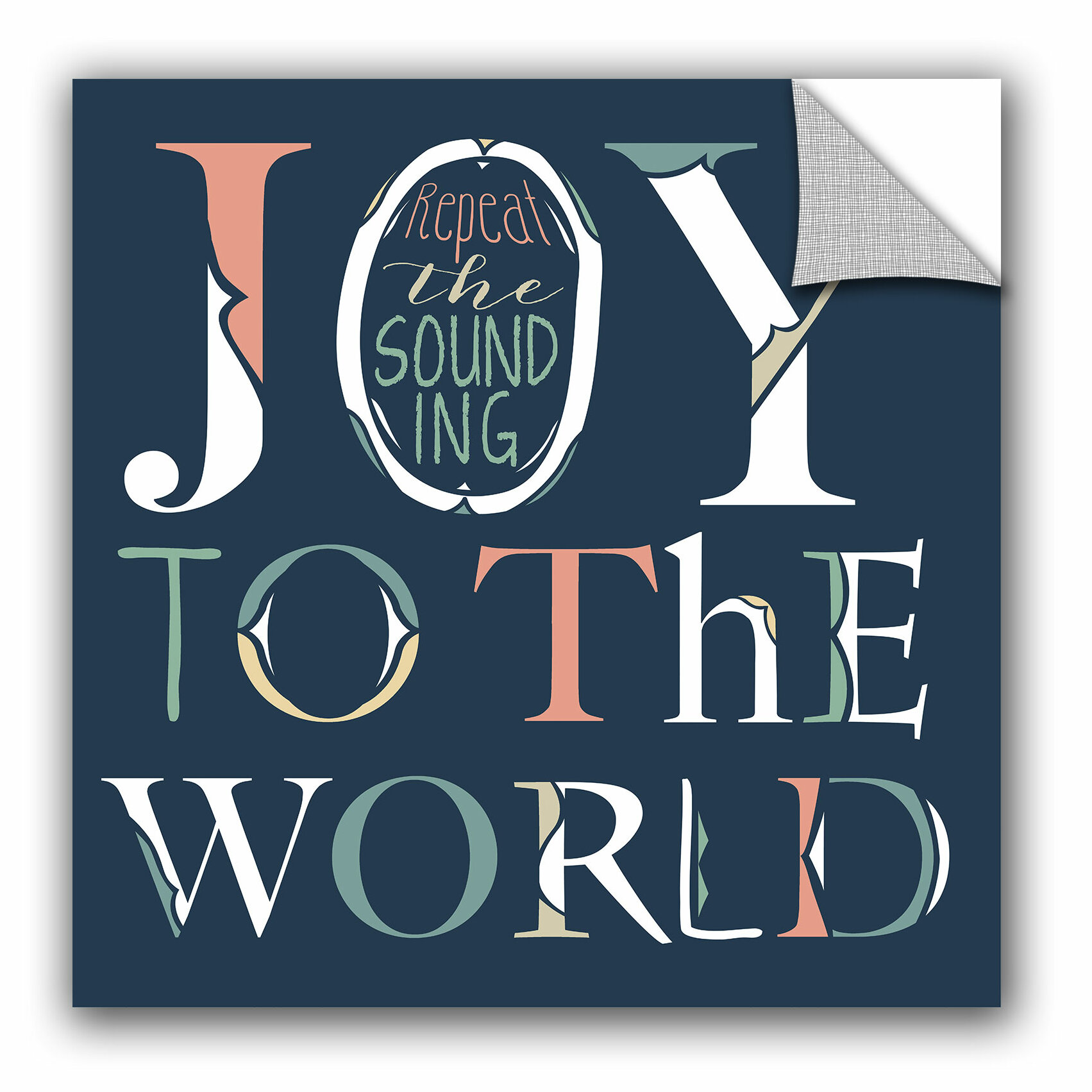 Artwall Longfellow Design Joy To The World Wall Decal Wayfair