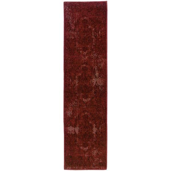 Raiden Garnet Red Area Rug by Bungalow Rose