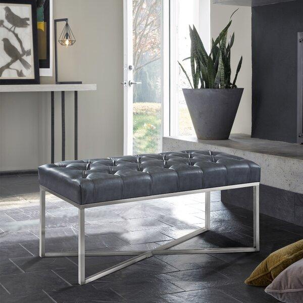 Steinke Faux Leather Bench by Orren Ellis