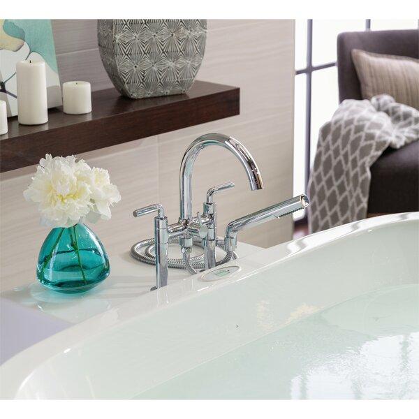 Riu Triple Handle Floor Mounted Clawfoot Tub Faucet by Riobel Riobel