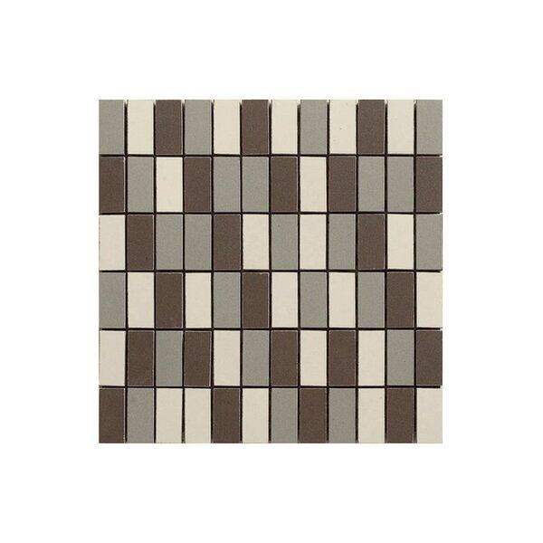 Basic 12 x 12 Porcelain Mosaic Tile in Cream/Black by Kellani