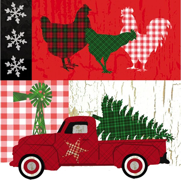 Locher Farm Christmas Paper Cocktail Napkin (Set of 20) by August Grove